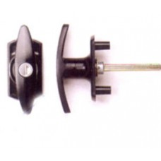 Cardale Locking T - Handle In Black Finish