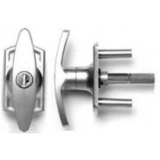 Henderson Locking T-Handle - Silver Finish - 57mm Spindle