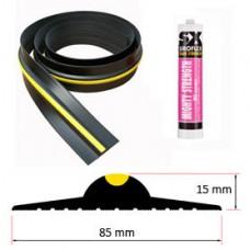15mm Weather Stop Garage Door Floor Seal Kit (2225mm) 7ft 3in