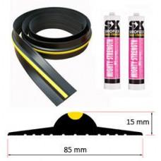 15mm Weather Stop Garage Door Floor Seal Kit (5578mm) 18ft 3in