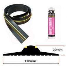 20mm Weather Stop Garage Door Floor Seal Kit (2225mm) 7ft 3in